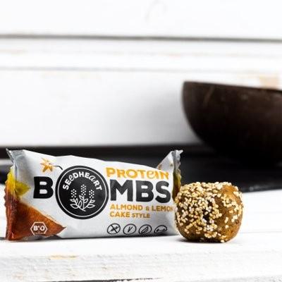 SEEDHEART Protein Bomb Almond & Lemon Cake BIO